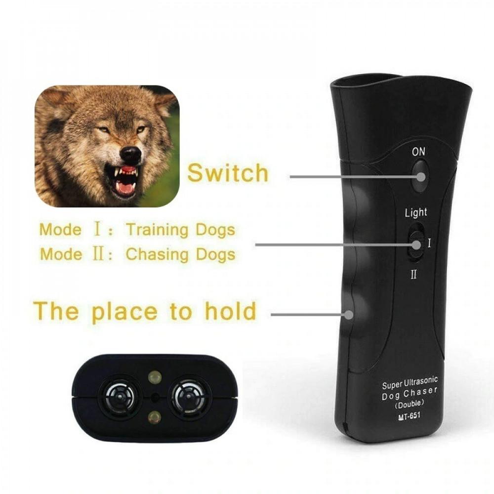 مكافح وطارد الكلاب والذئاب والحيوانات الضالة يعمل بالموجات فوق الصوتية