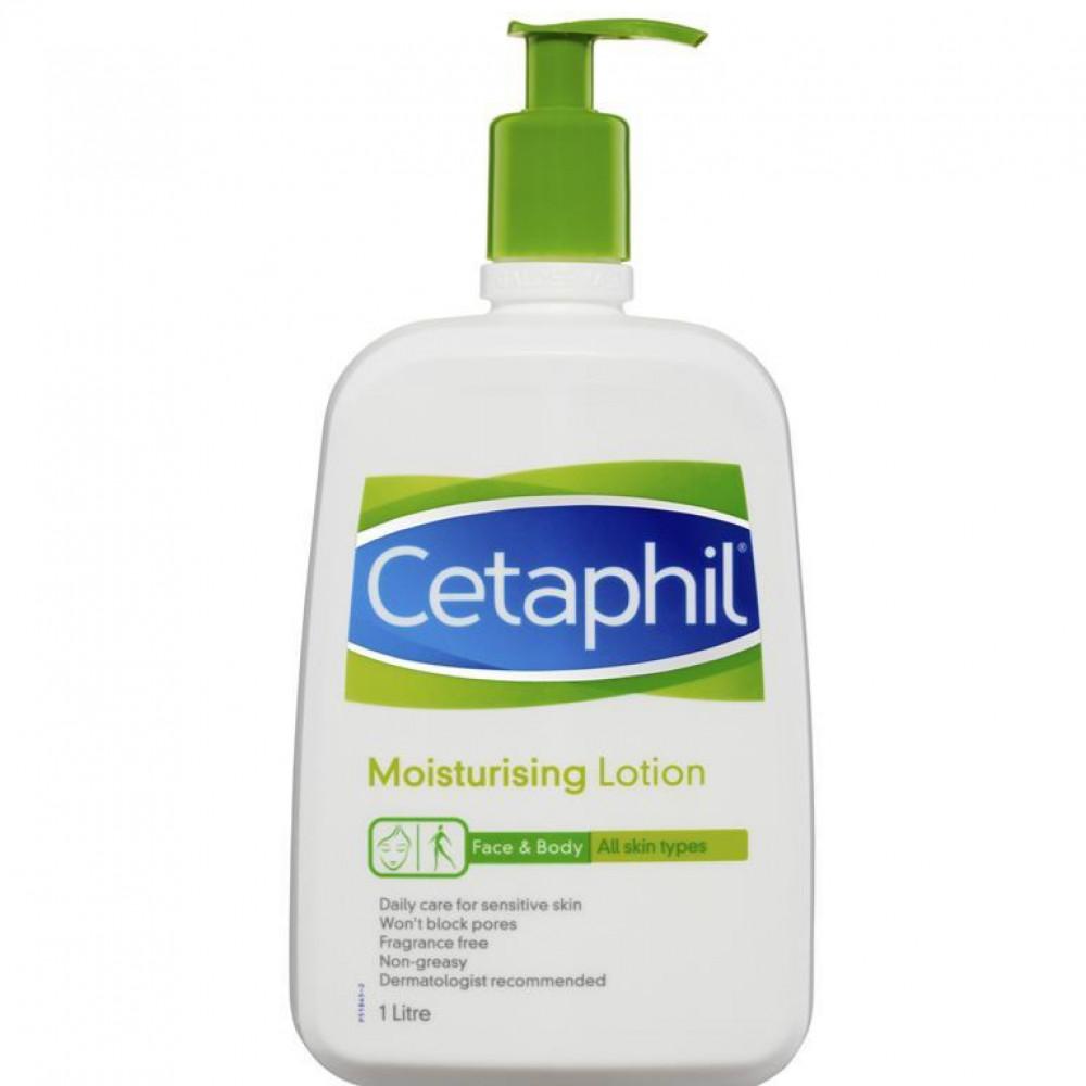 سيتافيل لوشن مرطب لجميع أنواع البشرة 1 لتر Cetaphil g لوشن للوجه و الب