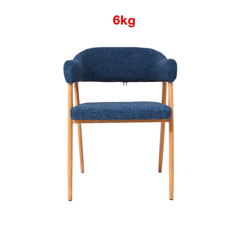 كرسي ازرق رجل خشبي