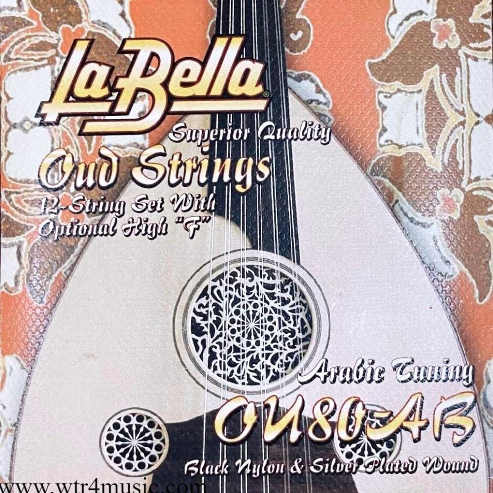 طقم الأوتار السوداء للعود العربي من لابيلا - 12 وتر  أوتار لابيلا اسود