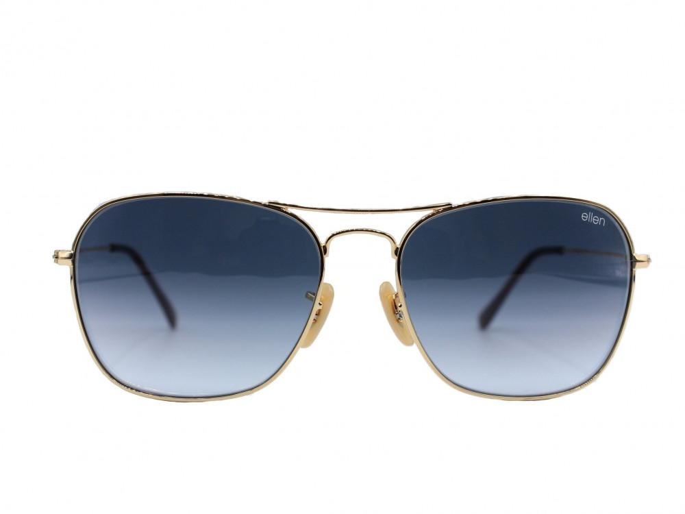 نظارة شمسية ماركة ELLEN للجنسين لون العدسة اسود مدرج لون الإطار ذهبي ب