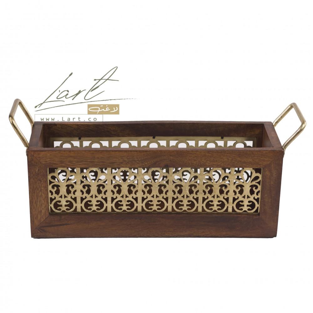 شراء سلة تخزين خشب بتصميم جميل - متجر لاغت