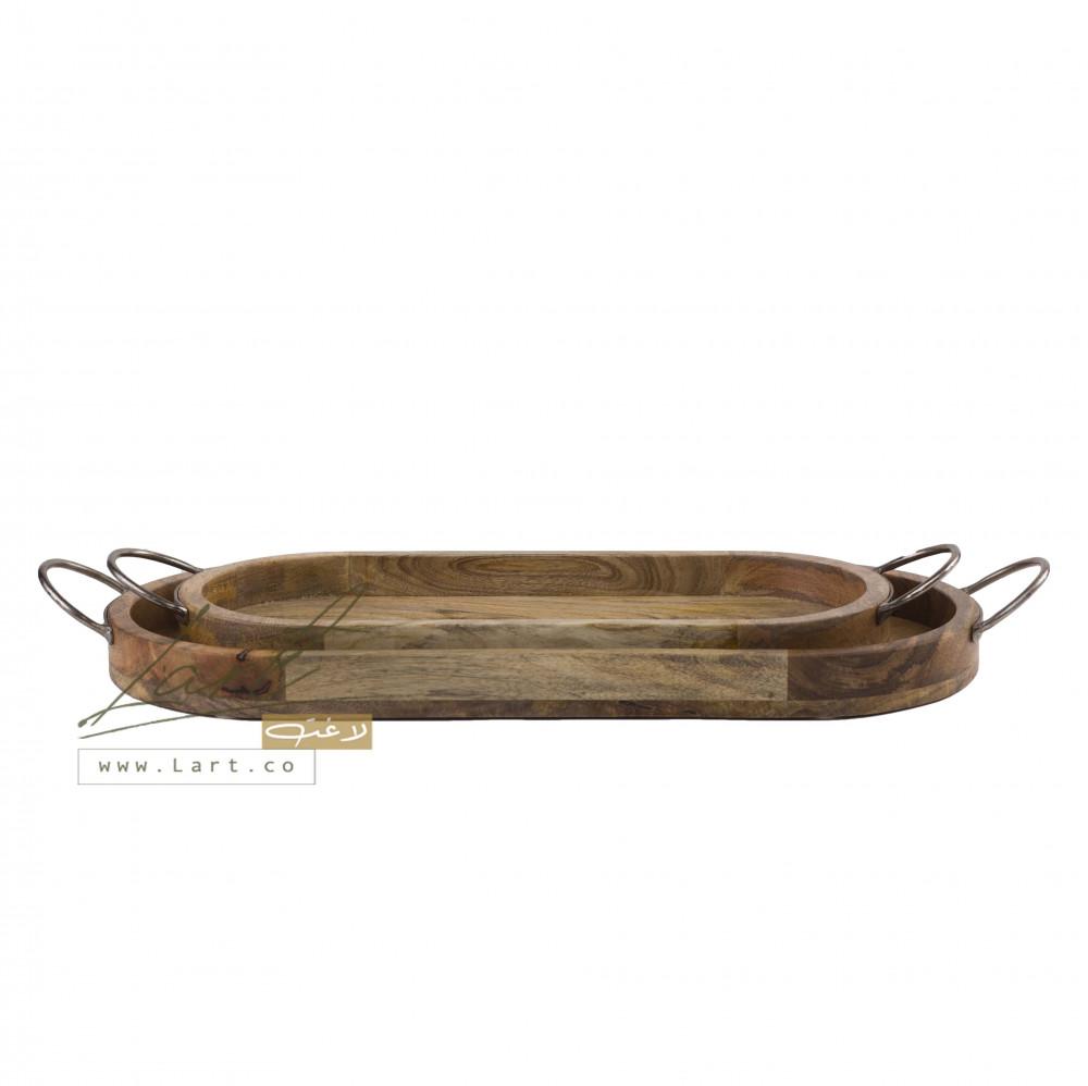 أحلى طقم صوانى خشب تقديم - متجر لاغت