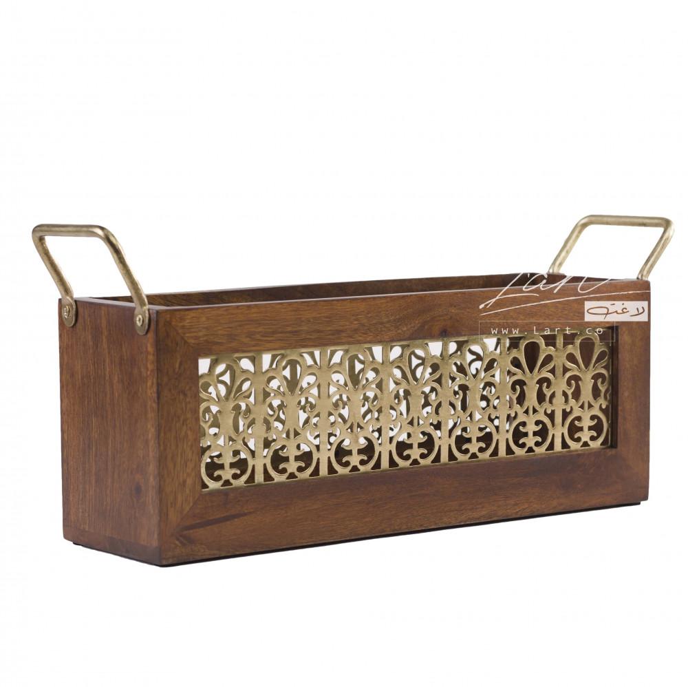 سلة تخزين خشب بتصميم جميل - متجر لاغت