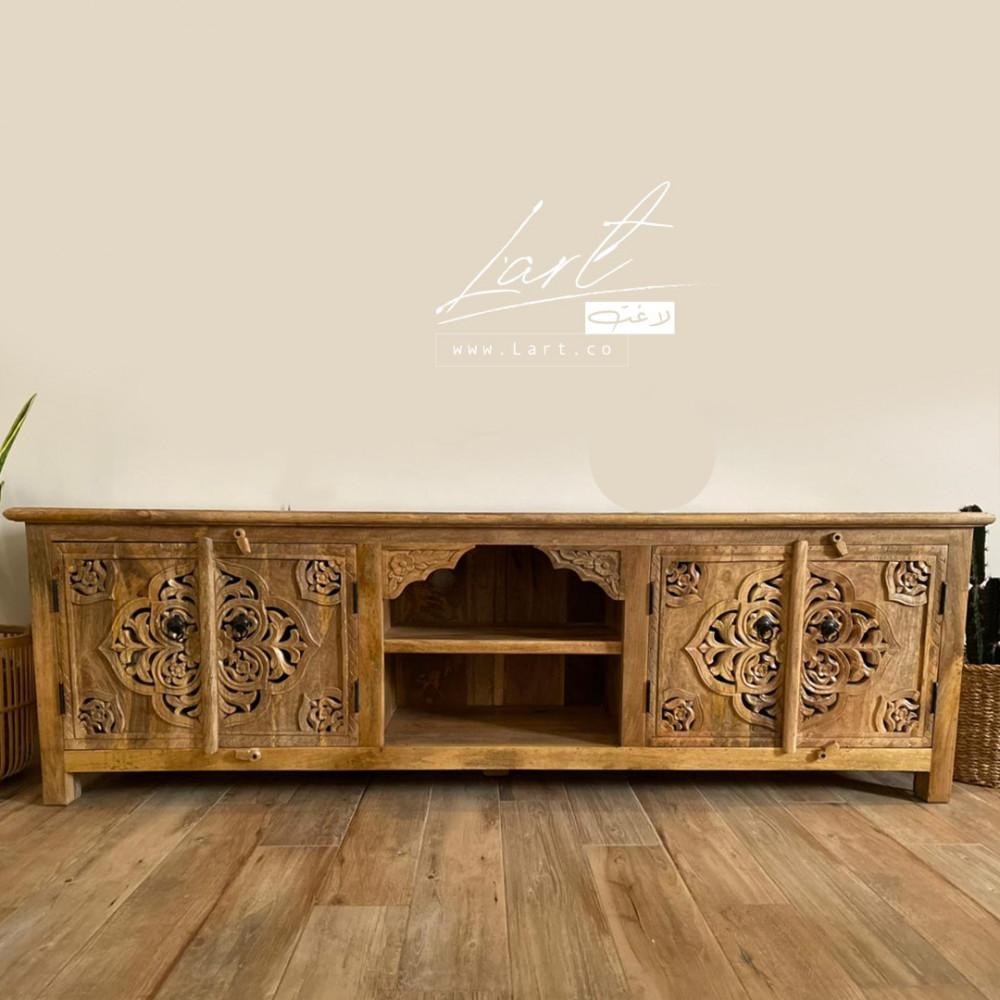 اجمل طاولات خشب تلفزيون - متجر لاغت