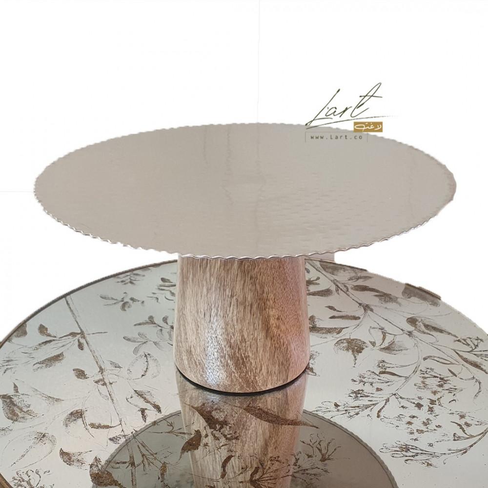 افخم ستاند خشب دائري للكيك - متجر لاغت