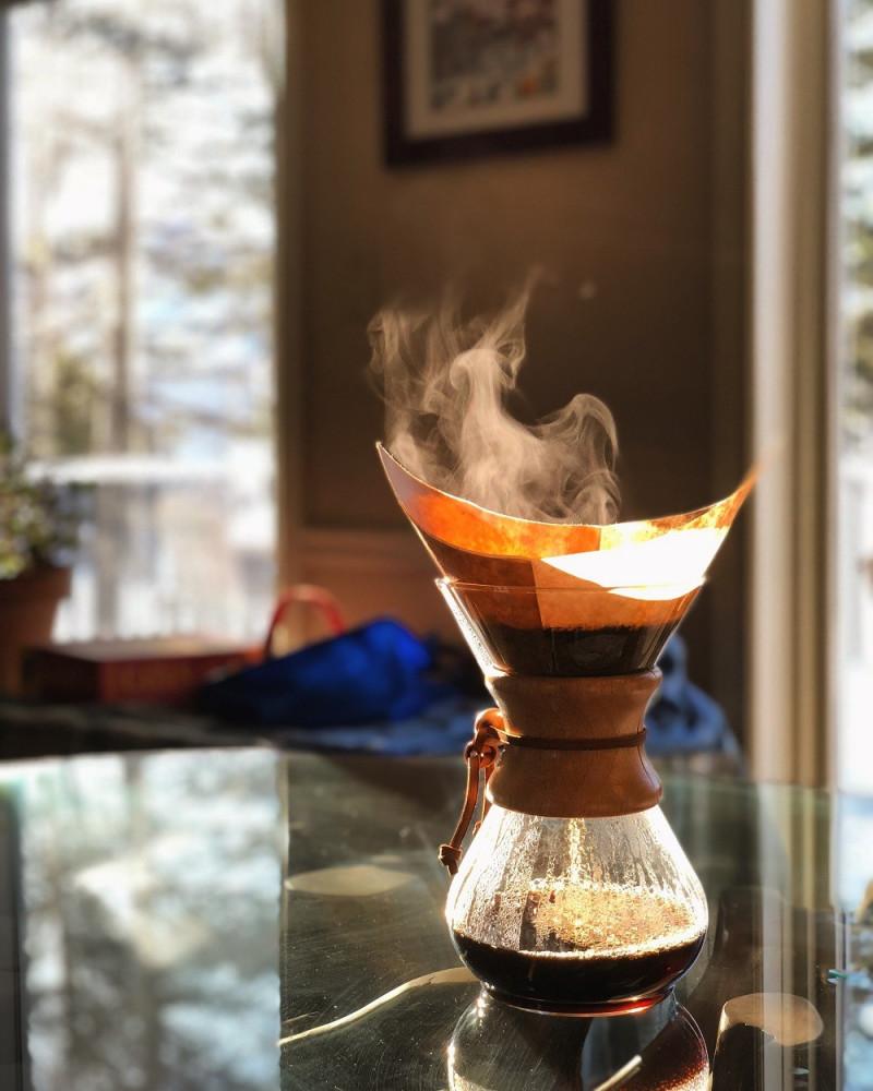 Drip on coffee