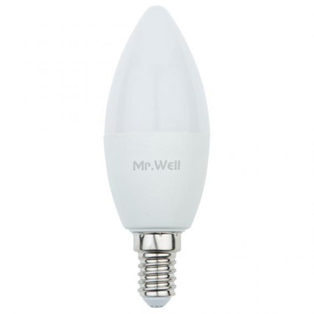 لمبة شمعة ليد 6W 100-240V E14  اصفر