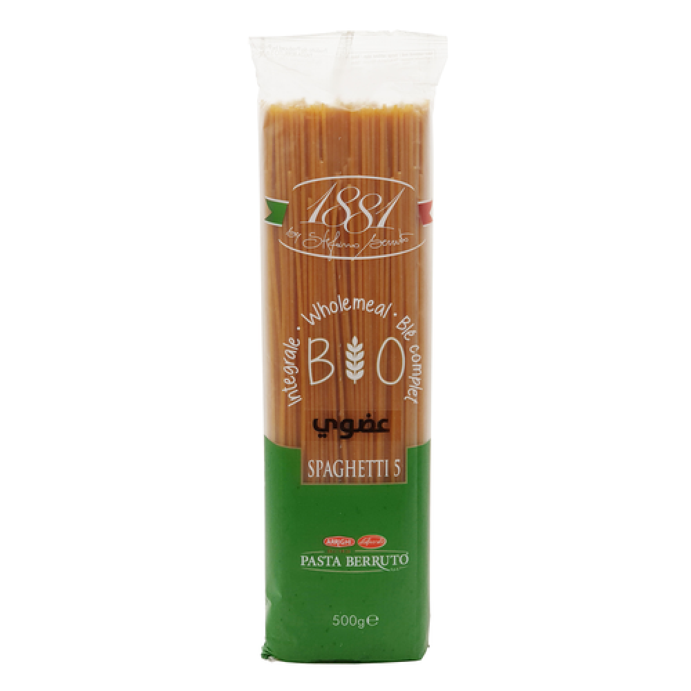 مكرونة القمح الكامل سباقيتي 5 عضوي 500 جرام