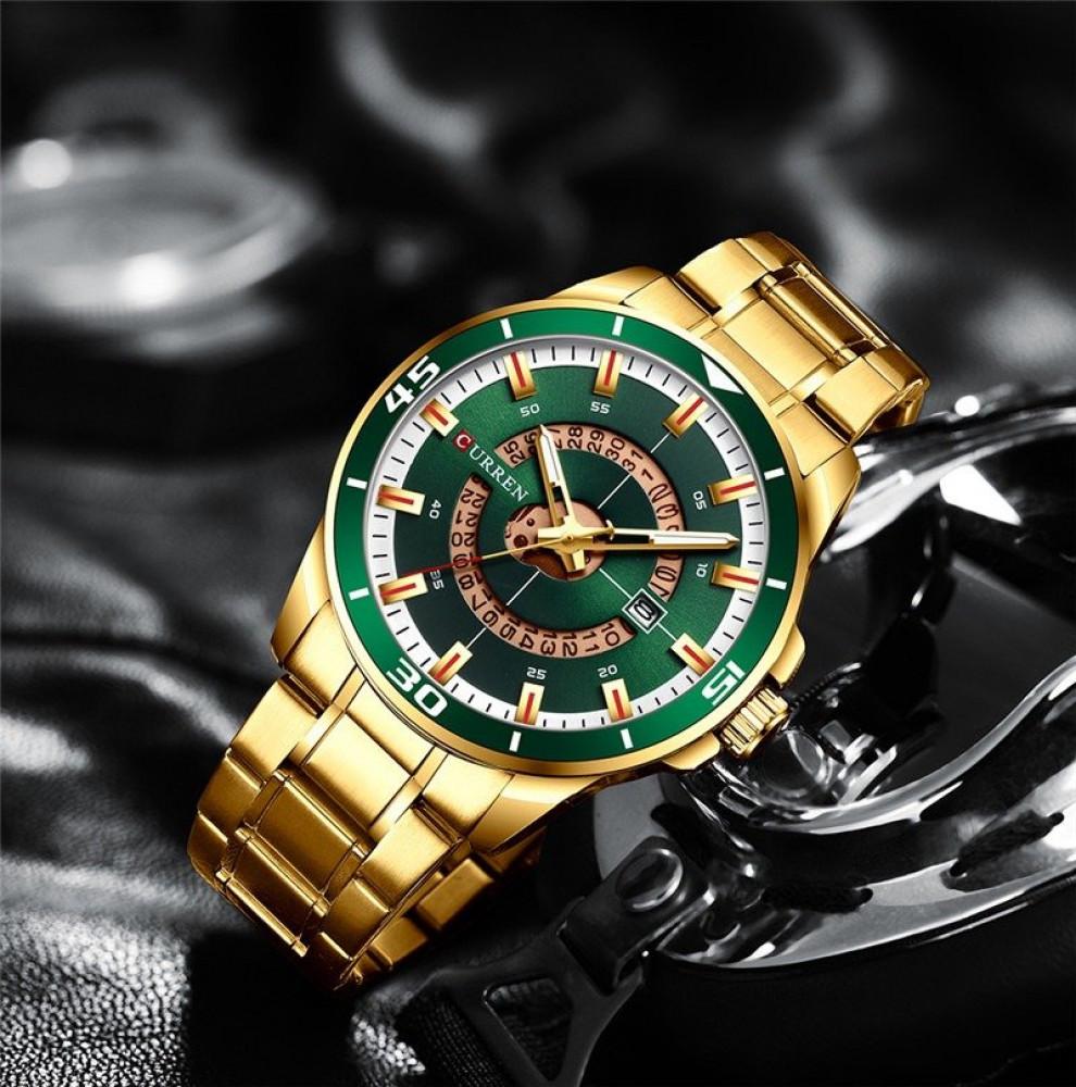 ساعة كورين ذهبية