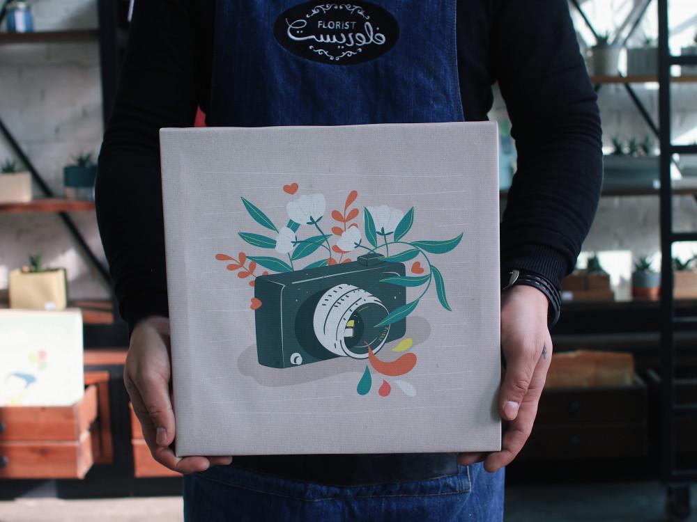 لوحة كانفس كاميرة
