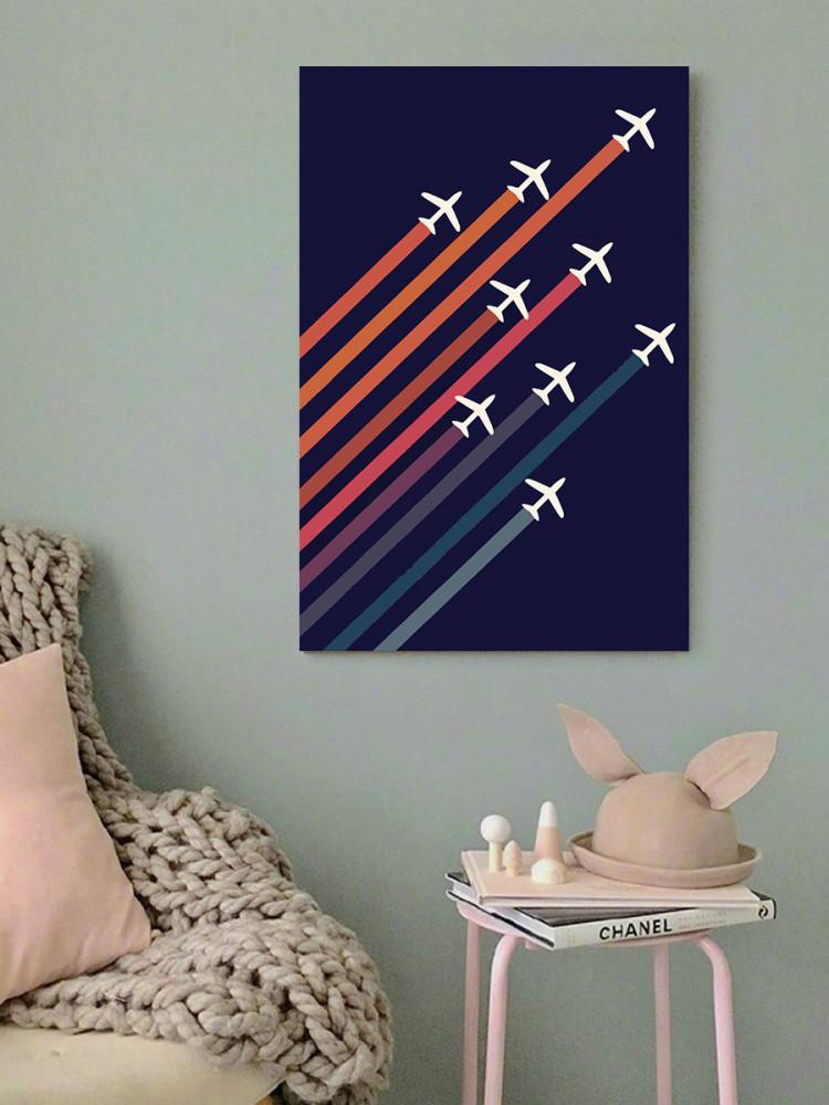 لوحة طائرات خشب ام دي اف مقاس 40x60 سنتيمتر