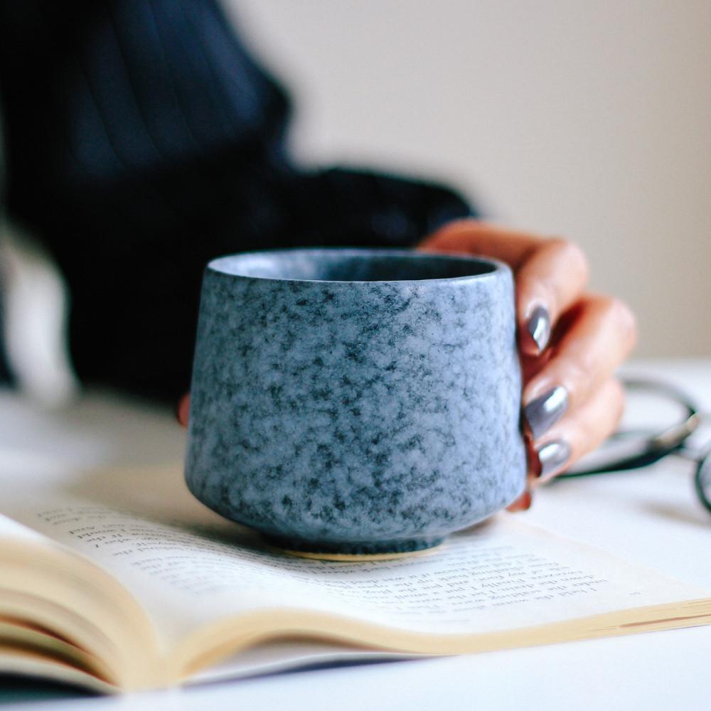 كوب قهوة حجري كوب لاتيه كوب هدية كوب خزف كوب اسبريسو كوب شاي