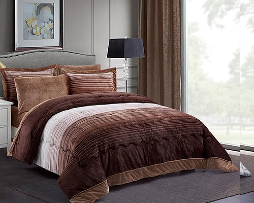 مفرش سرير نفرين لونه بني