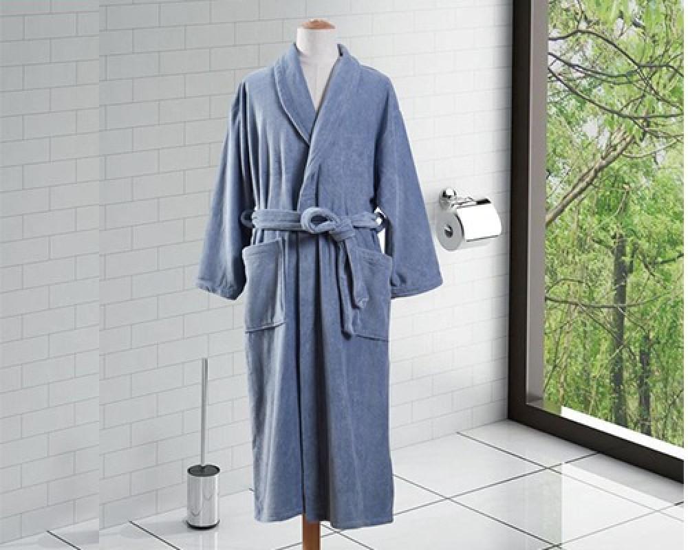 روب استحمام ساده لونه ازرق