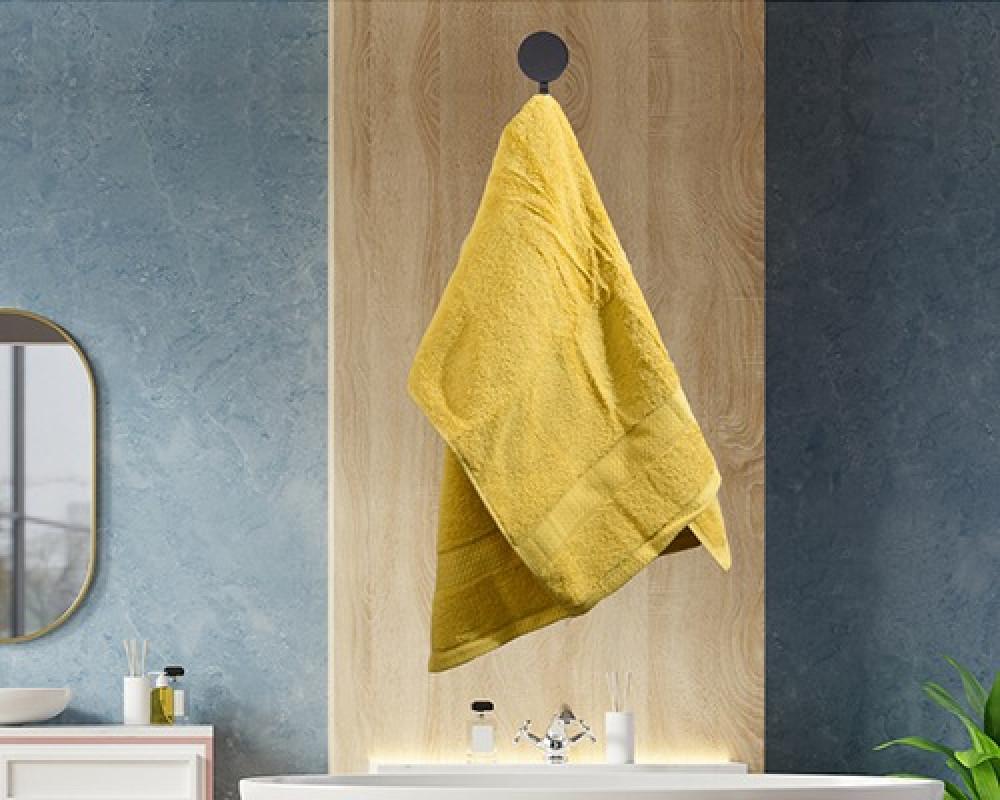 منشفة ضيوف لونها اصفر تستخدم للوجه او اليدين