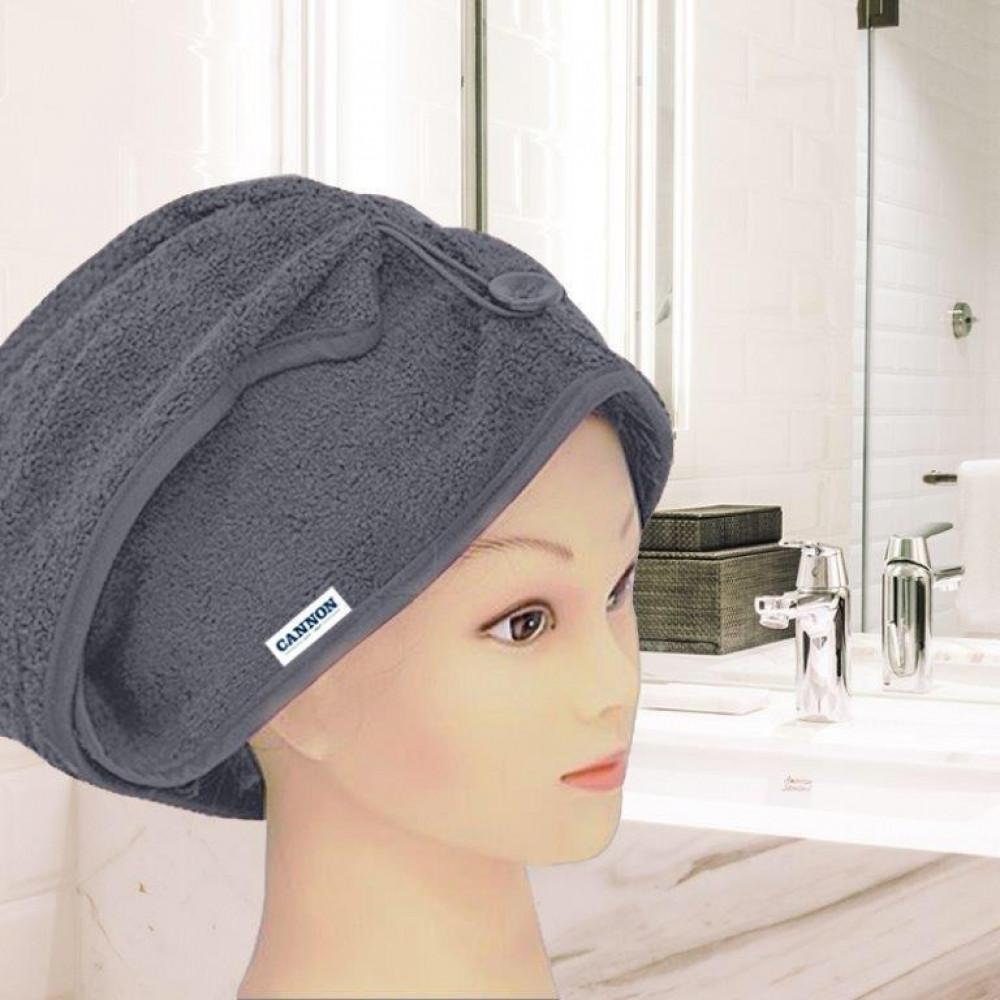 منشفة رأس نسائيه لونها رمادي غامق