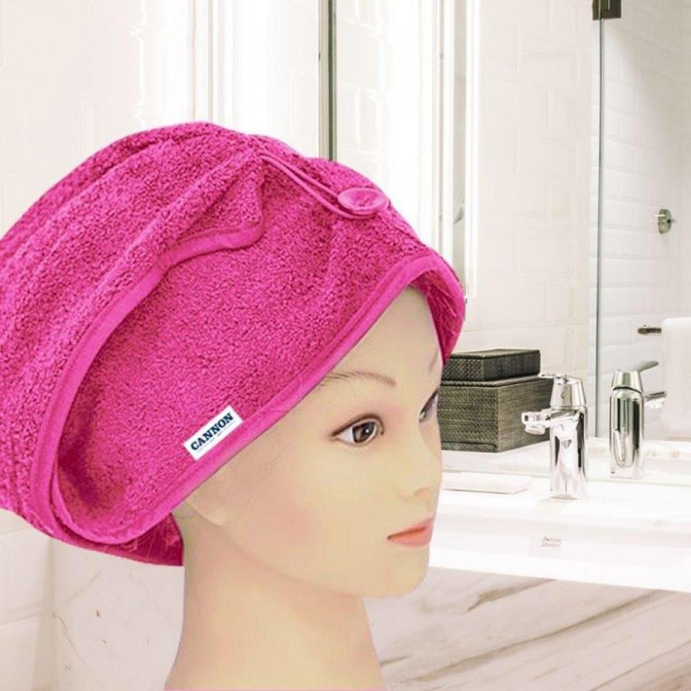 منشفة رأس نسائيه لونها فوشي