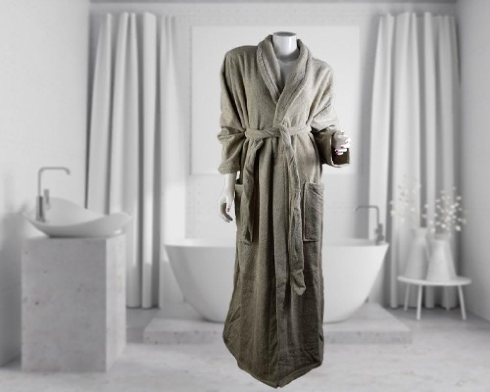 روب استحمام ساده لونه اخضر