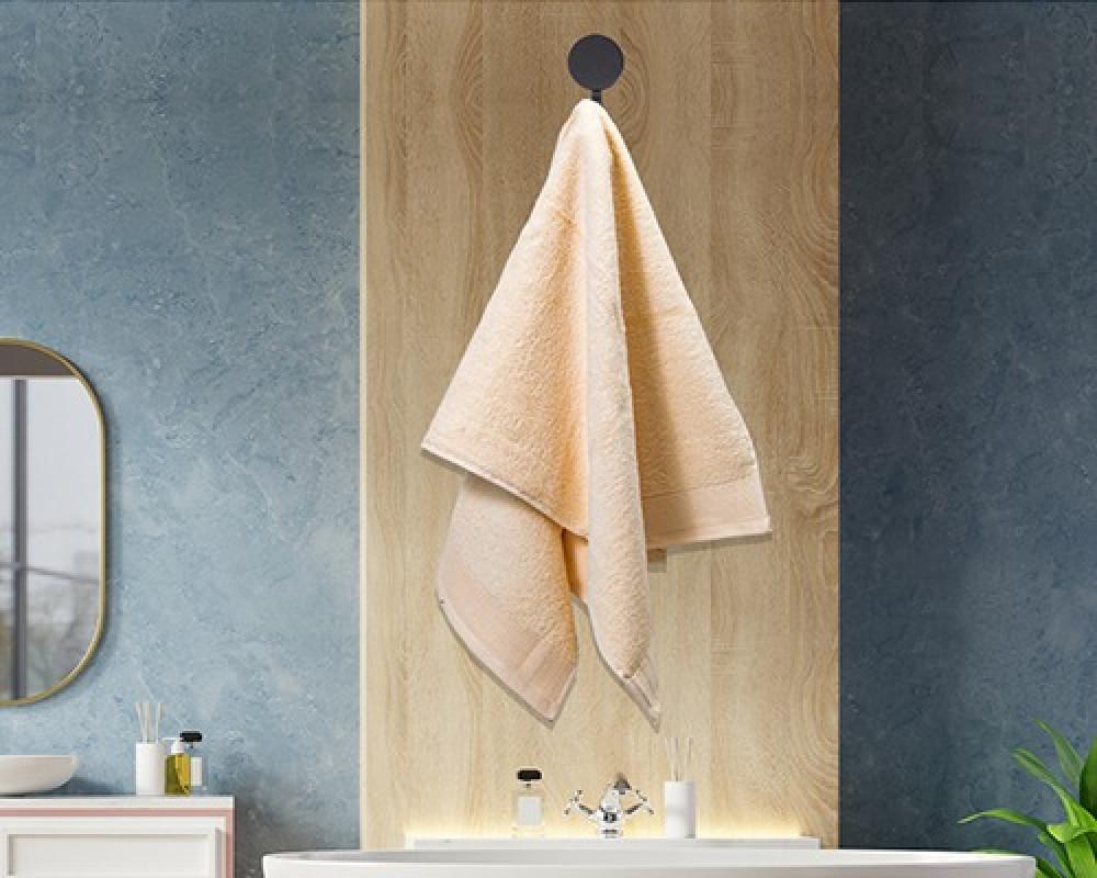 منشفة ضيوف لونها سكري تستخدم للوجه او اليدين
