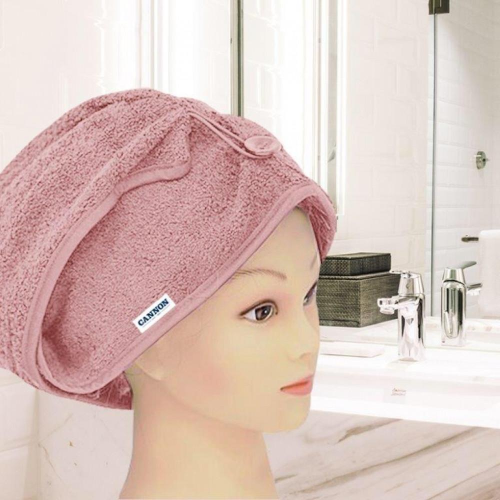 منشفة رأس نسائيه لونها وردي