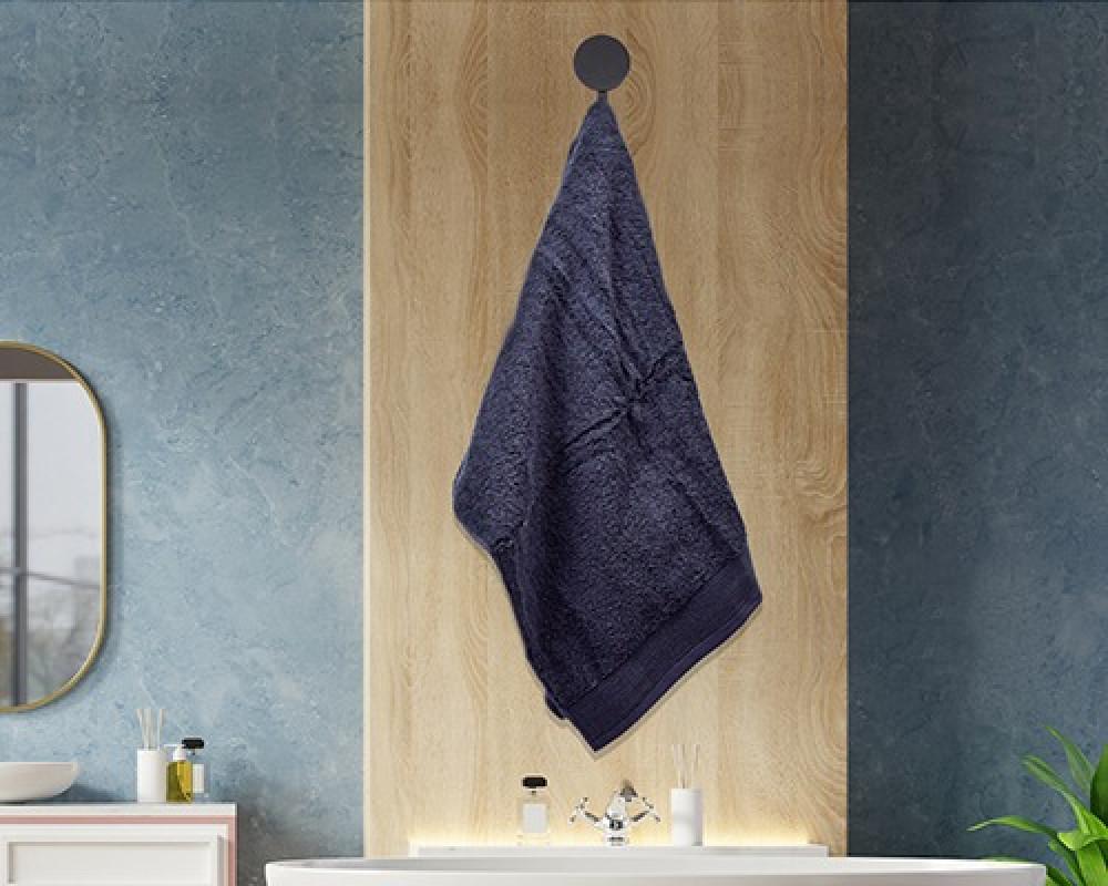 منشفة ضيوف لونها كحلي تستخدم للوجه او اليدين