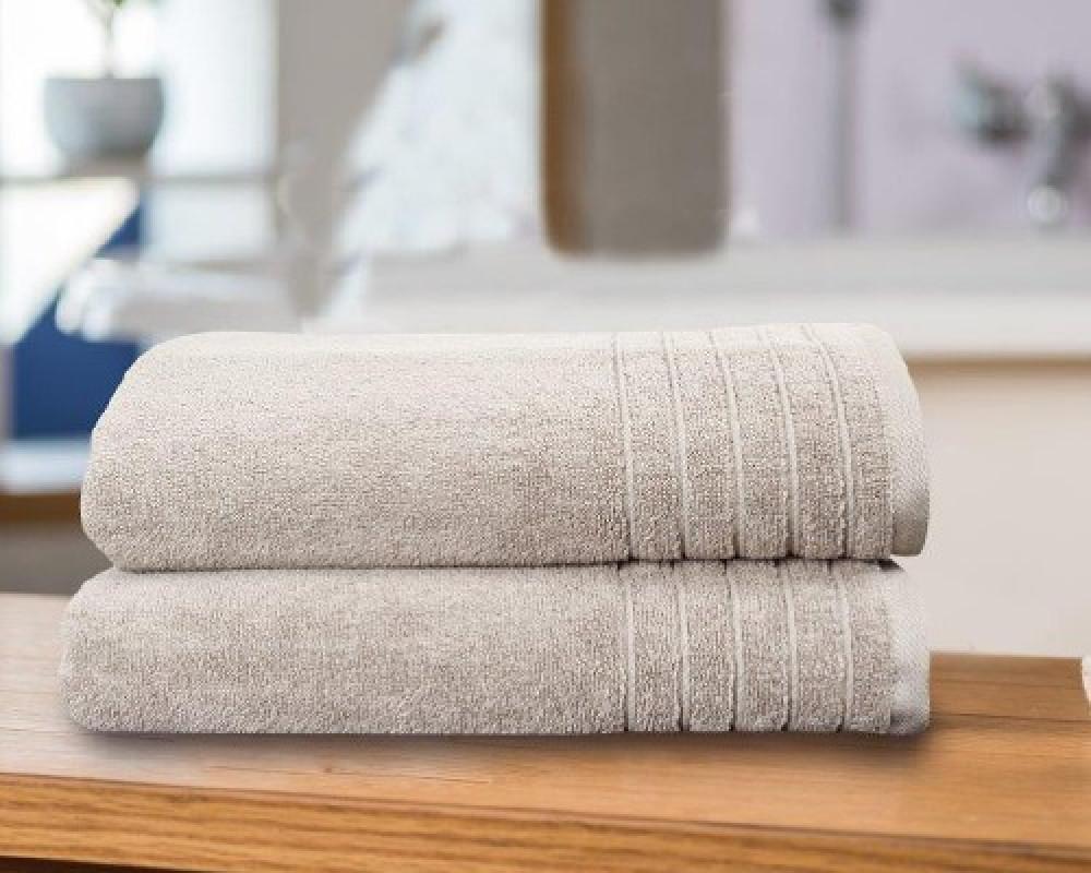 منشفة استحمام للجنسين لونها بيج فاتح