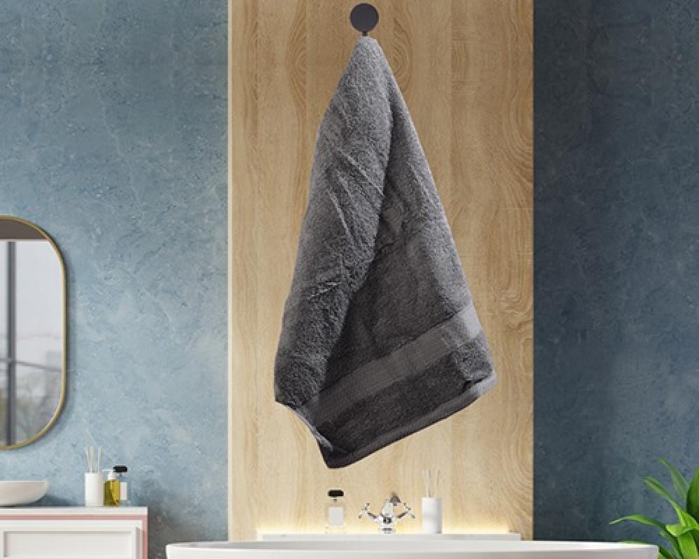 منشفة ضيوف لونها رمادي تستخدم للوجه او اليدين