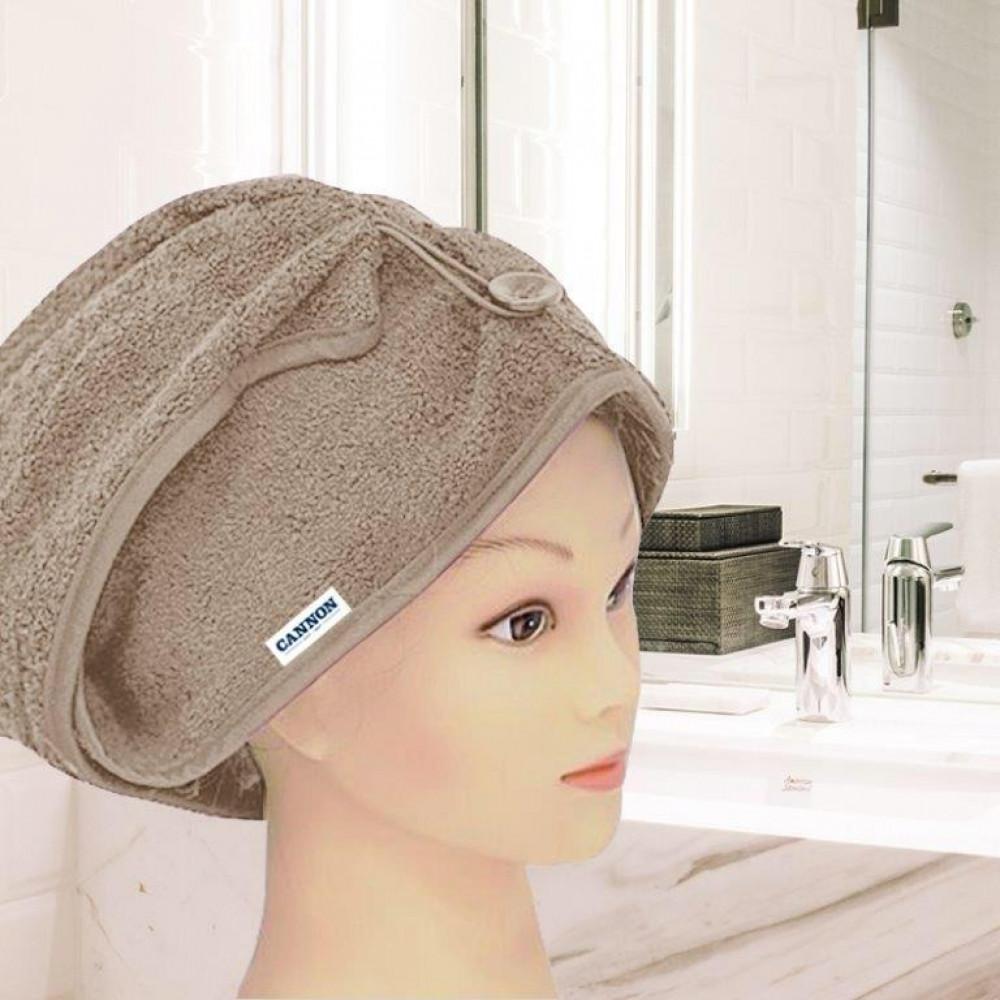 منشفة رأس نسائيه لونها بيج غامق