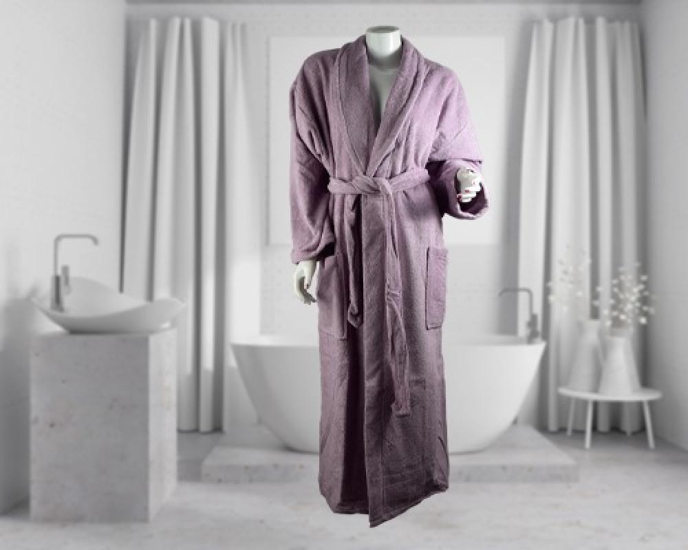 روب استحمام ساده لونه بنفسجي