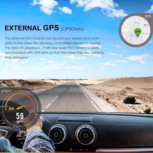 تسجيل الموقع و السرعه للسياره داش كام