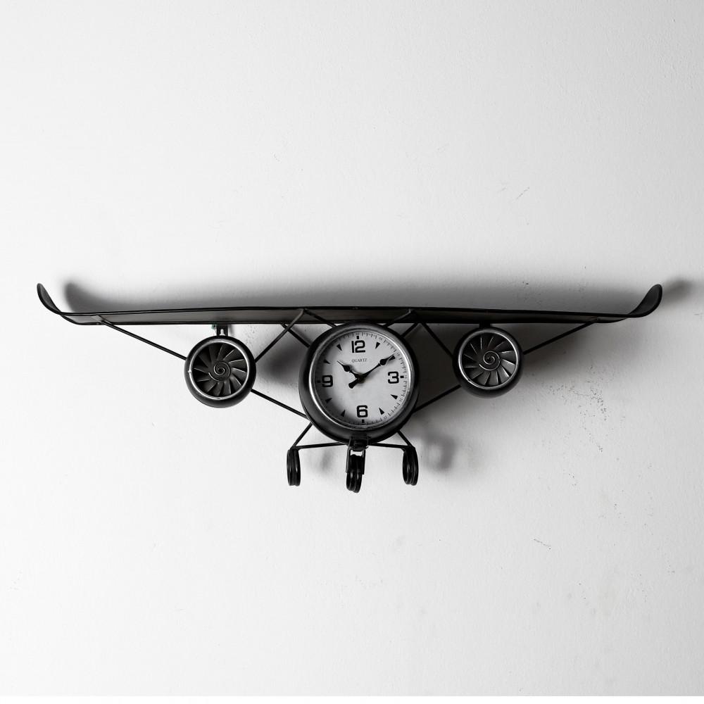 صور ساعة حائط أنتيكة موديل بلان سفن شكل طائرة صناعة معدنية الفاخرة جدا