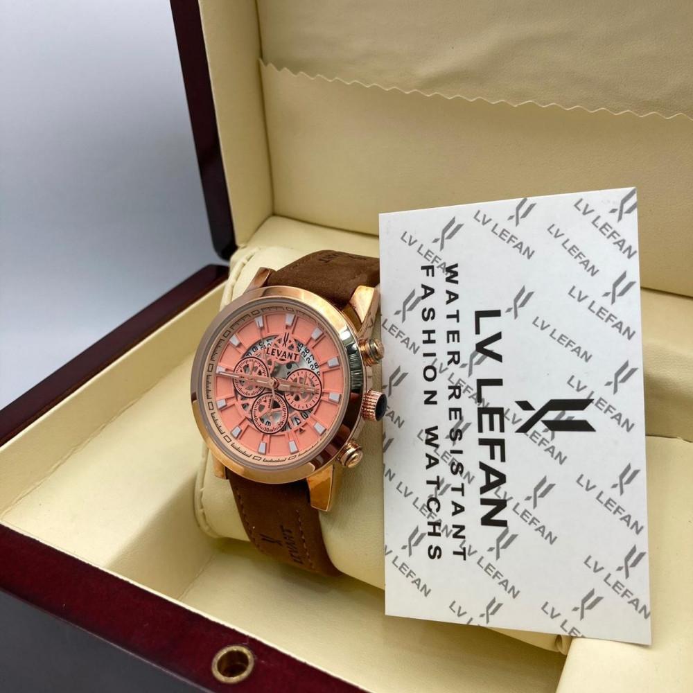 ساعة يد رجالية راقية جلد شامواه