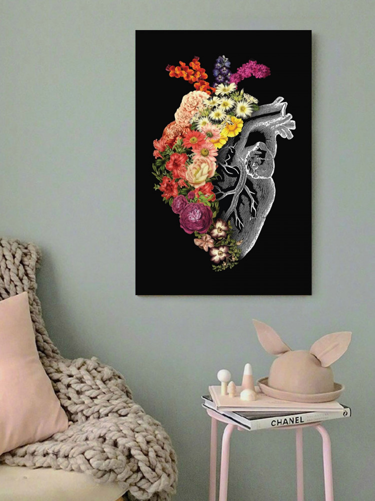 لوحة قلب خشب ام دي اف مقاس 40x60 سنتيمتر