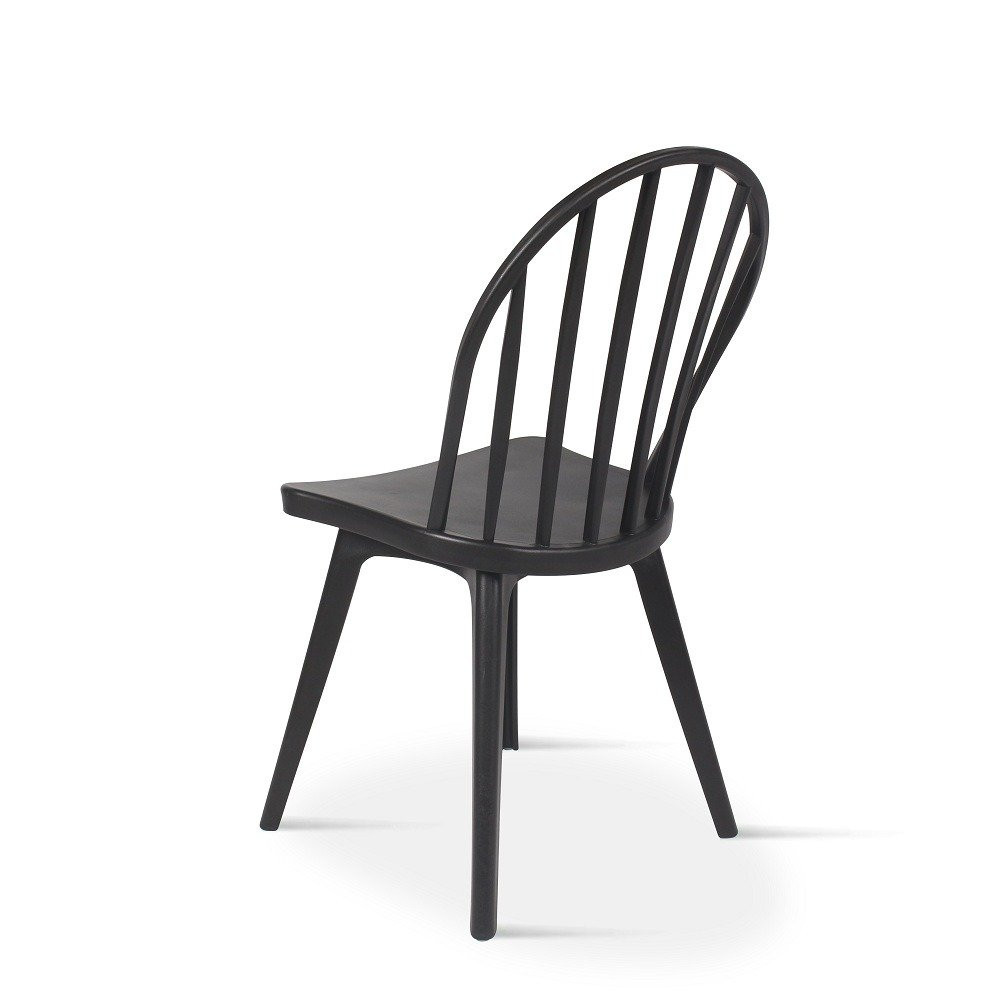 أجمل الكراسي تجدها في متجر مواسم للأثاث طقم كراسي أسود من البلاستيك