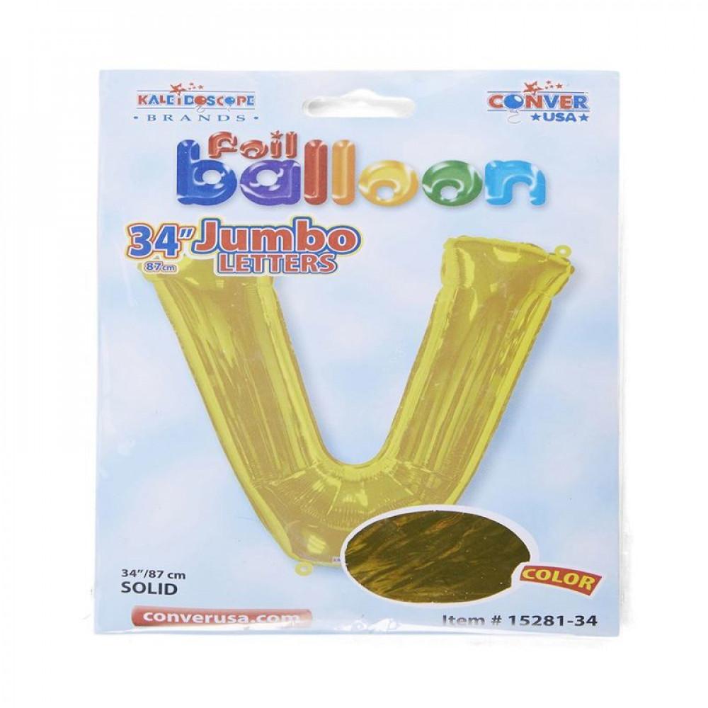 بالون ذهبي, Golden Balloon, بلونات أحرف, بالون حرف V