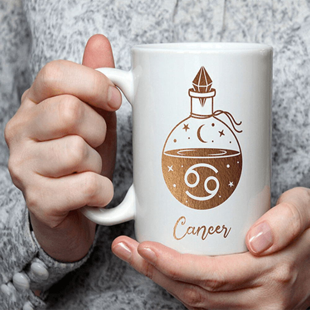 كوب قهوة بمصل برجك