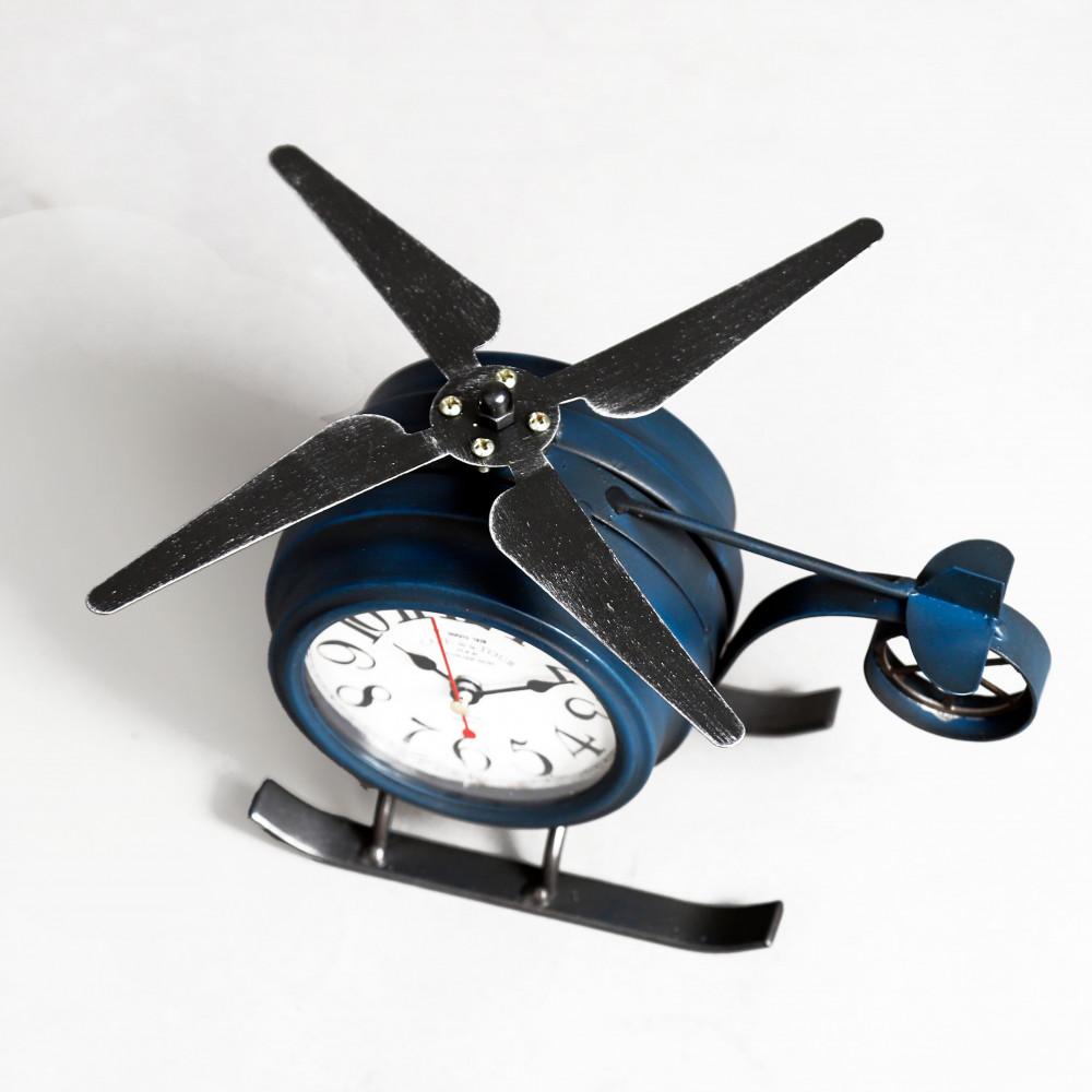 صورة ساعة طاولة أنتيكة موديل بلان شكل طائرة صناعة معدنية فخمة جدا