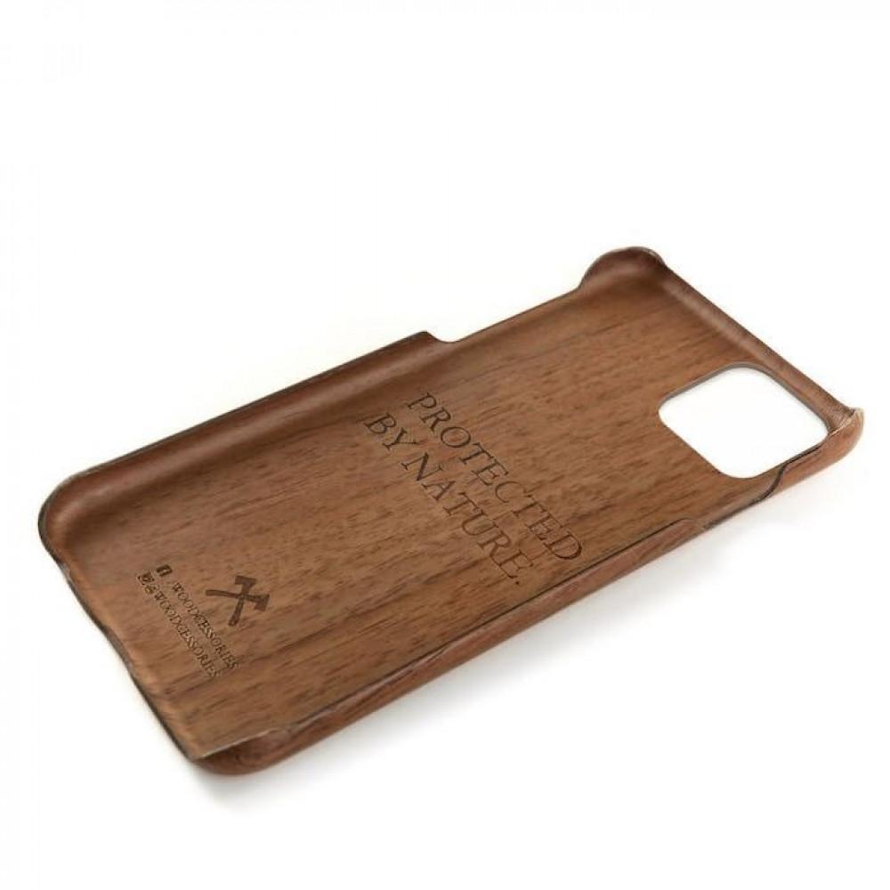 حافظة ايفون 11 برو من الخشب
