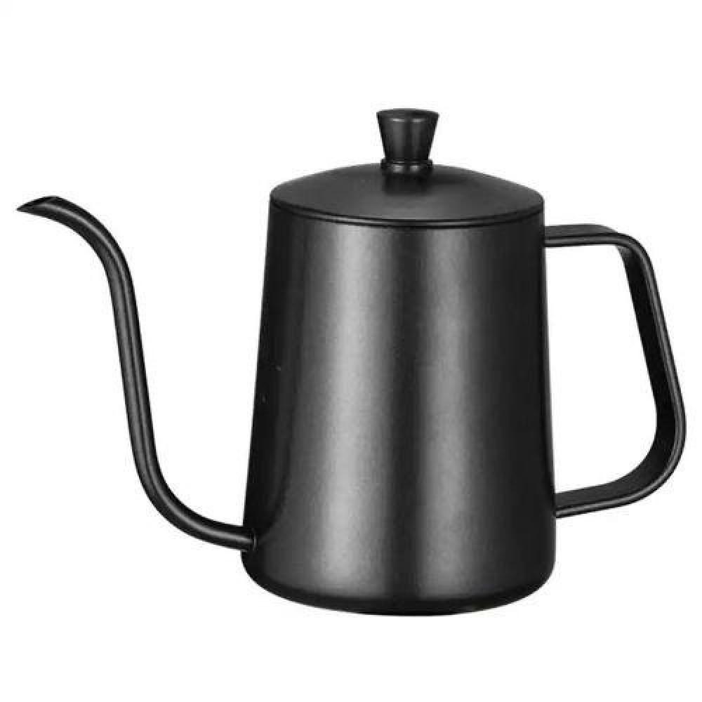 ابريق تقطير القهوة بغطاء لون أسود مطفي 600 متجر كوفي كلاود محامص قهوة