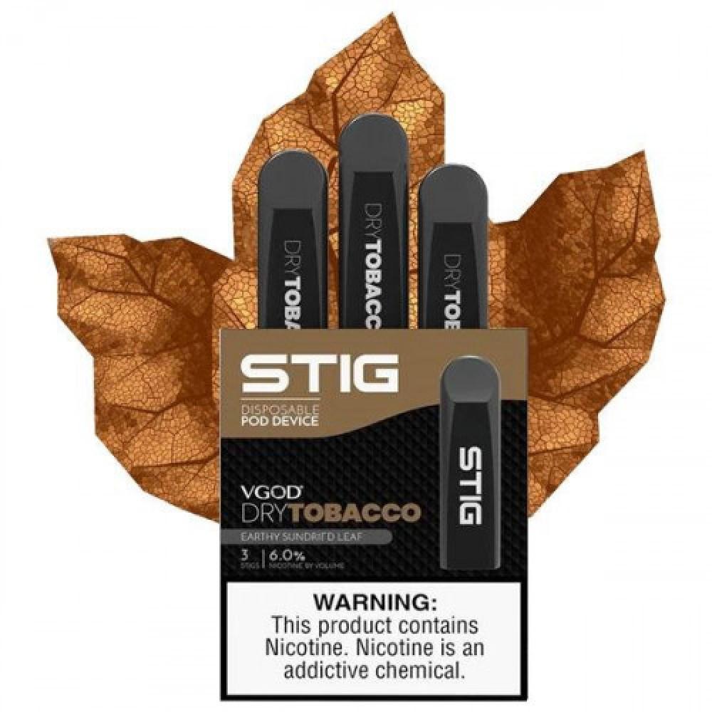 ستيج في قود دراي توباكو - VGOD Stig Dry Tobacco 3-Pack - فيب