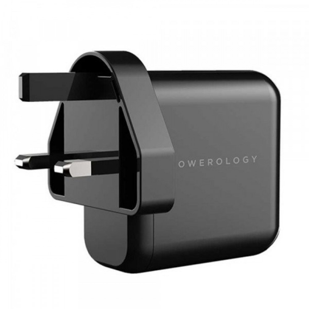 Powerology 3 Port 65W GaN Charger with PD