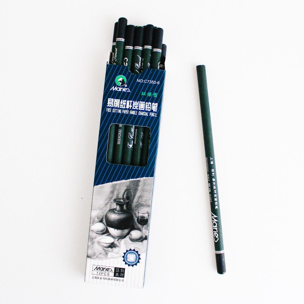 اقلام فحم قلم فحم أبيض أقلام فحم ماريس رسم بالرصاص طريقة رسم متجر رسم