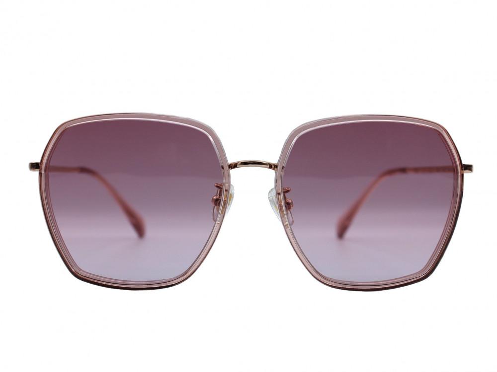 نظارة شمسية ماركة PARIMنسائي لون العدسة وردي مدرج لون الإطار نحاسي