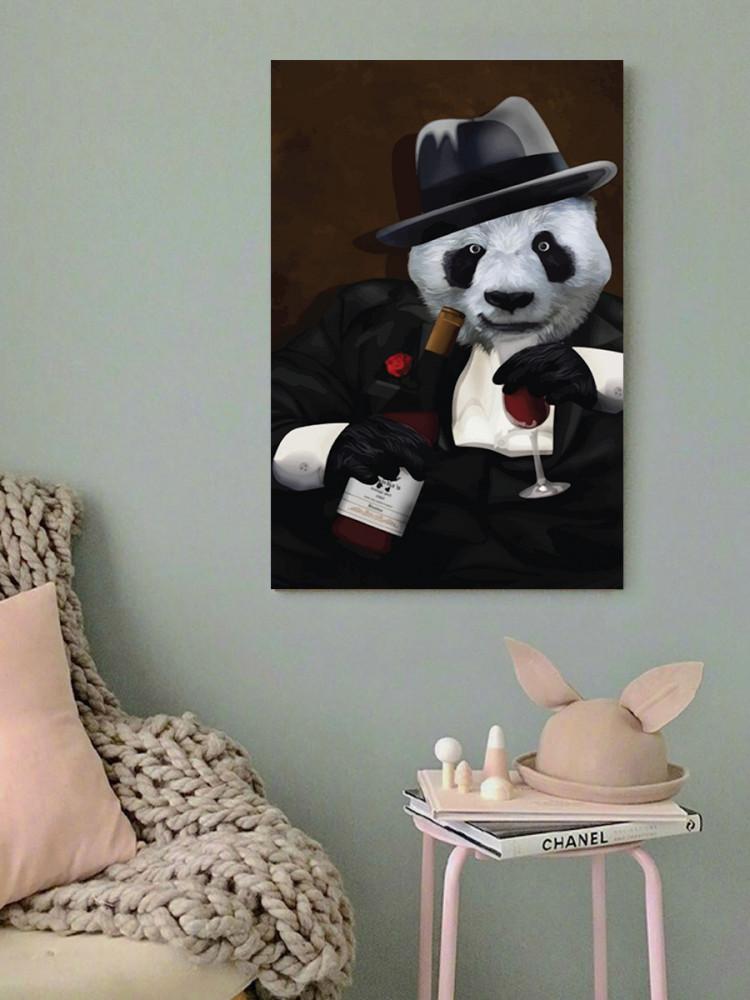 لوحة دب الباندا خشب ام دي اف مقاس 40x60 سنتيمتر