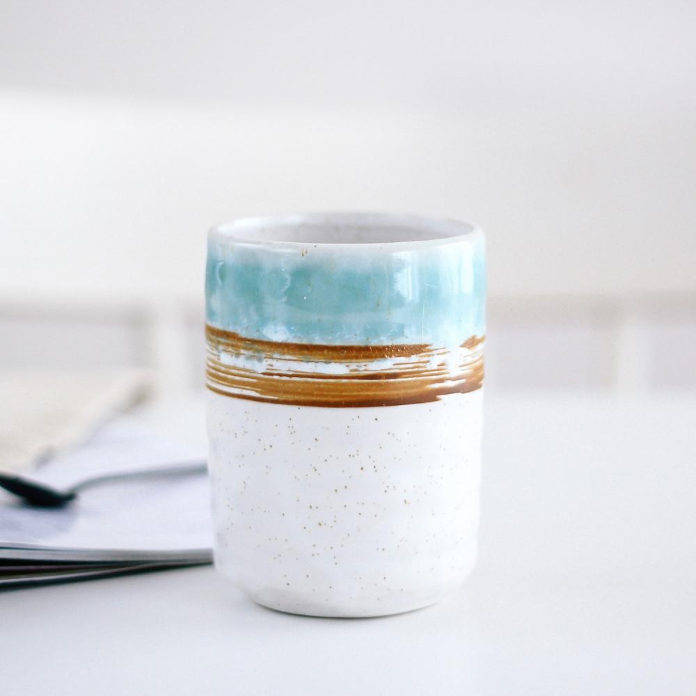 كوب حجري صناعة يدوية  أدوات القهوة المختصة كوب لاتيه كوب ركن القهوة
