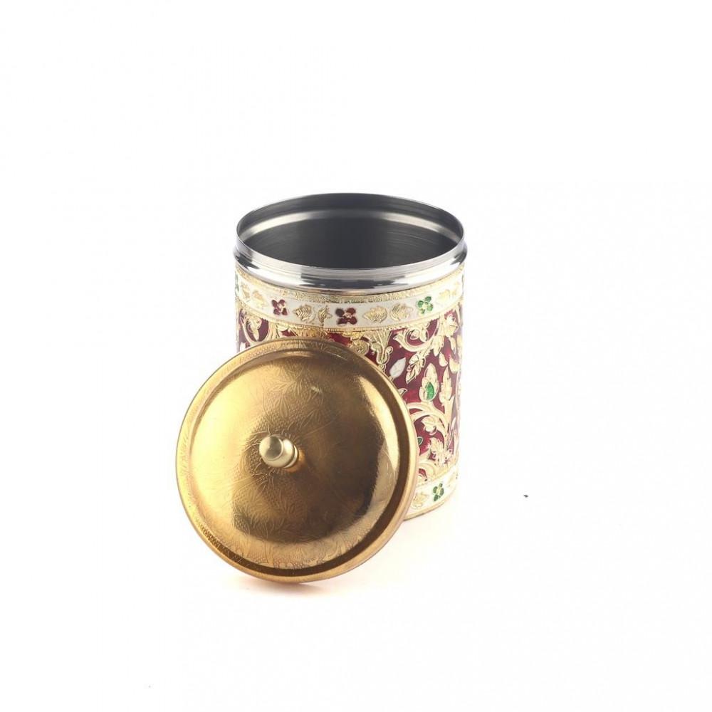 علبة بهارات الجبر مطرز غطاء ذهبي 4