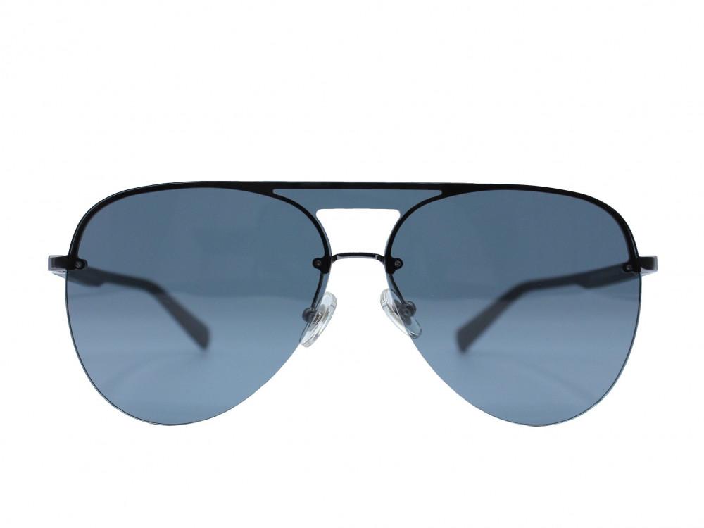 نظارة شمسية ماركة PARIM رجالية لون العدسة اسود لون الإطار رمادي مطفي ت