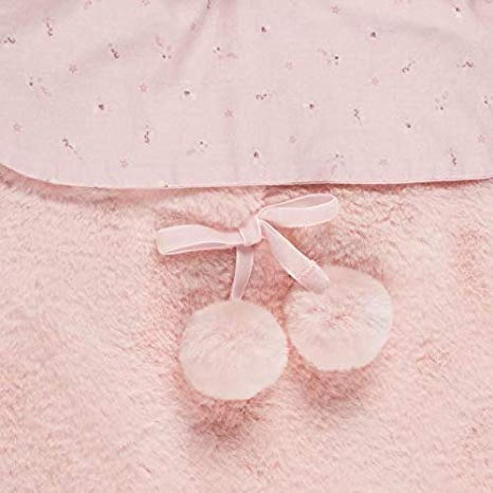 غطاء واقي من البرد باللون الزهري من ماركة Pasito A Pasito من دوها