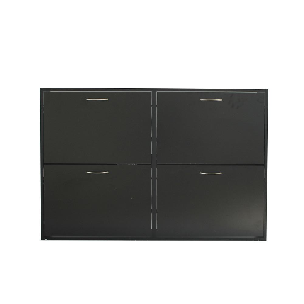 صور منظم أحذية موديل اورجانك جزامة لون أسود خشب من طبقتين و 4 أدراج